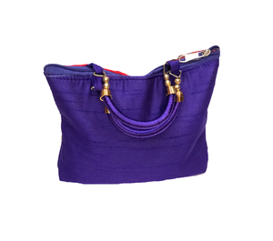Purple Digital Printed  Purse