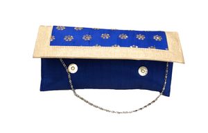 Fancy Royal Blue Clutch Purse