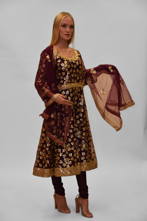 Fancy Heavy Embroidered Imperial Purple Salwar Suit