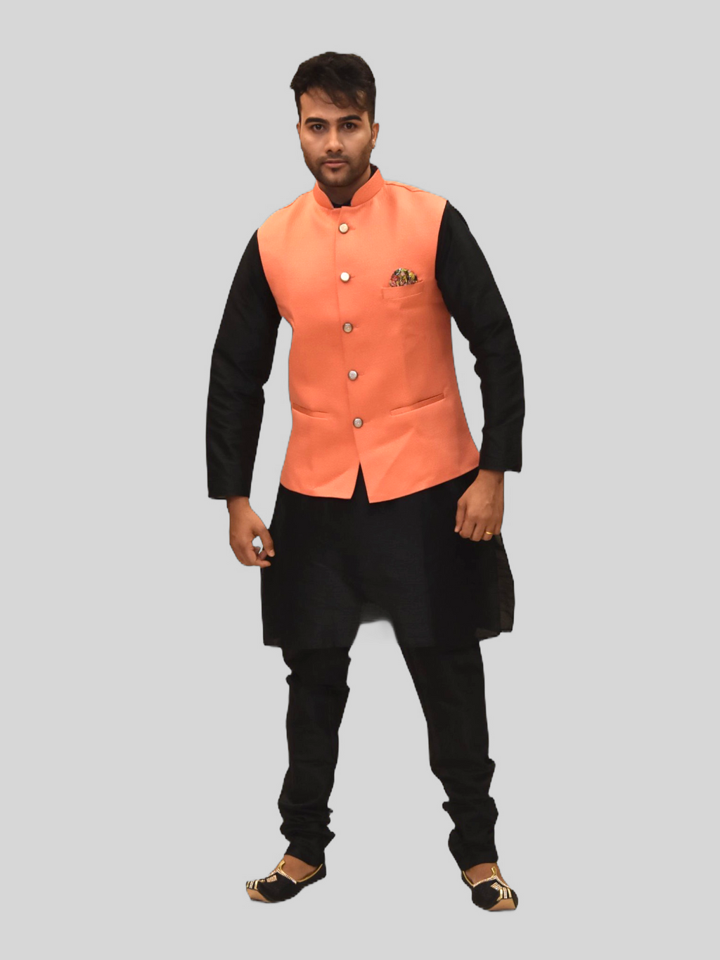 Silk Salamander Orange Modi Vest