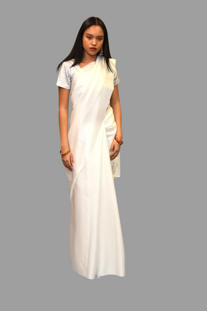 Silk Pure White Saree