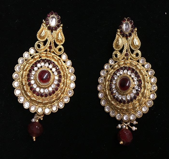 Red Victorian Earrings