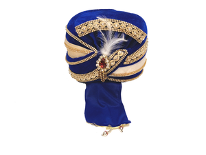 Royal Blue Velvet Turban