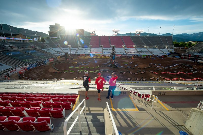Team HRC Salt Lake City SX 2020 Track Inspection