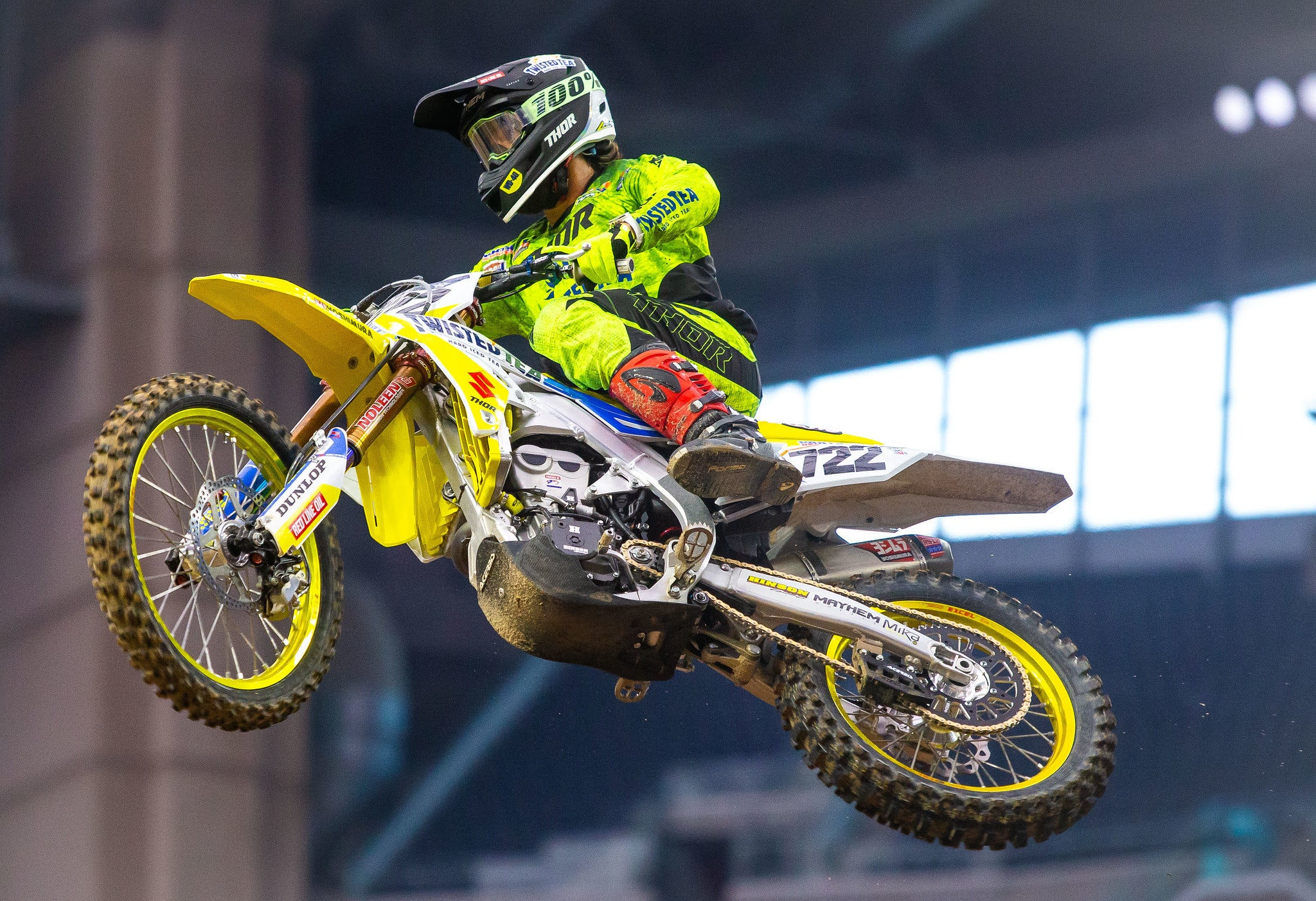 Adam Enticknap (722) rode smoothly and is excited to continue racing his RM-Z450