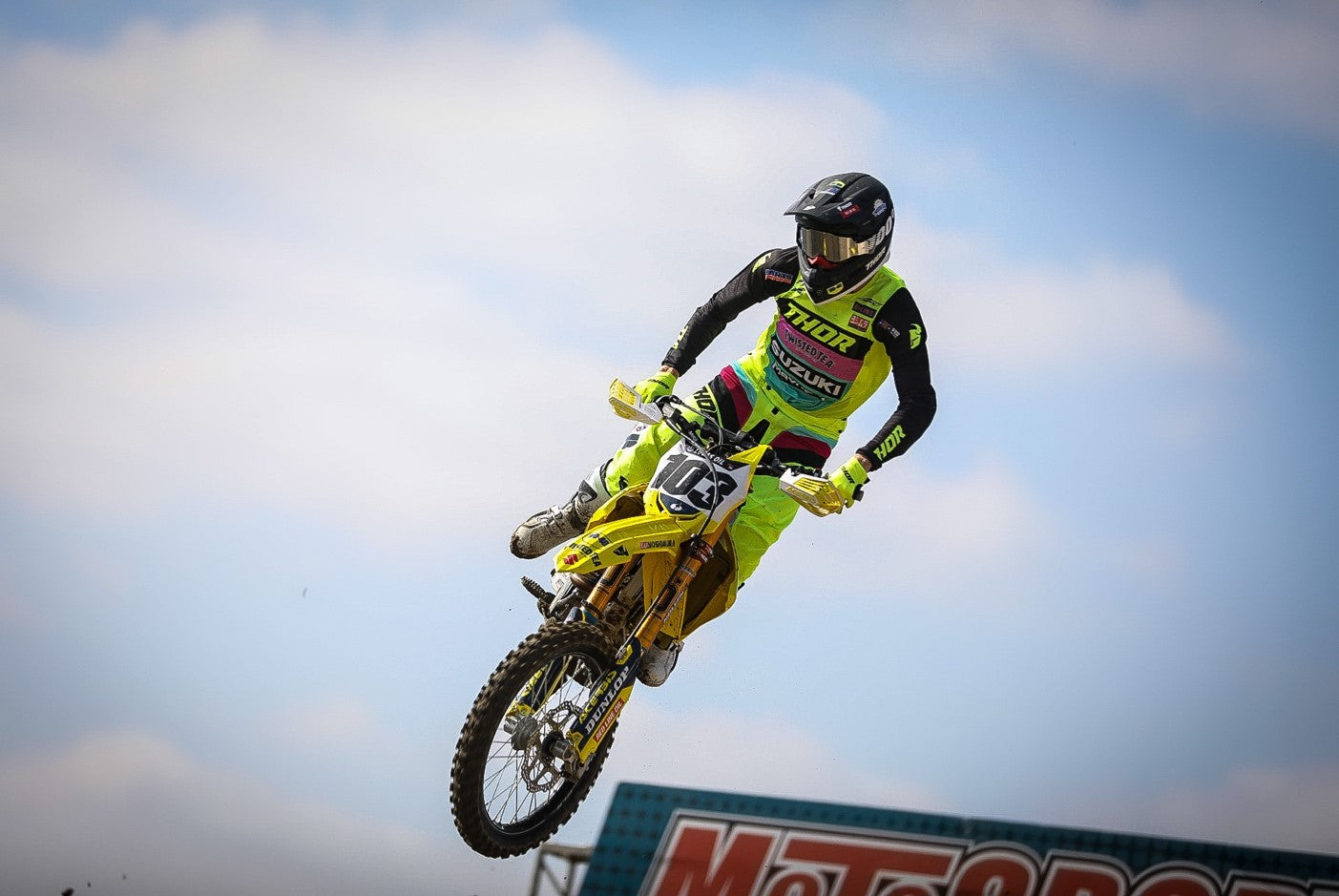 Max Anstie (#103) has a strong Moto#2 with 6th place