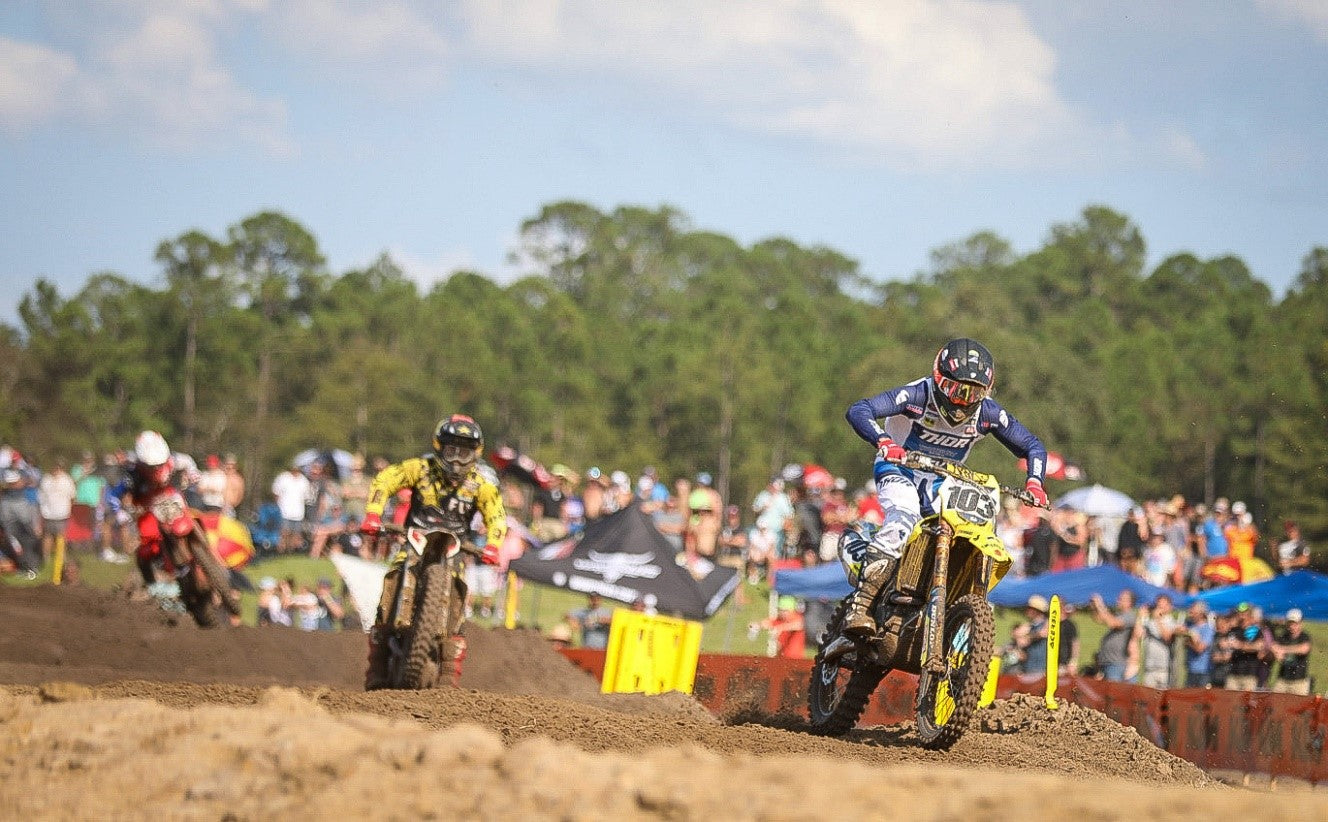Max Anstie (#103) with a 4<sup>th</sup> place finish in Moto #2.