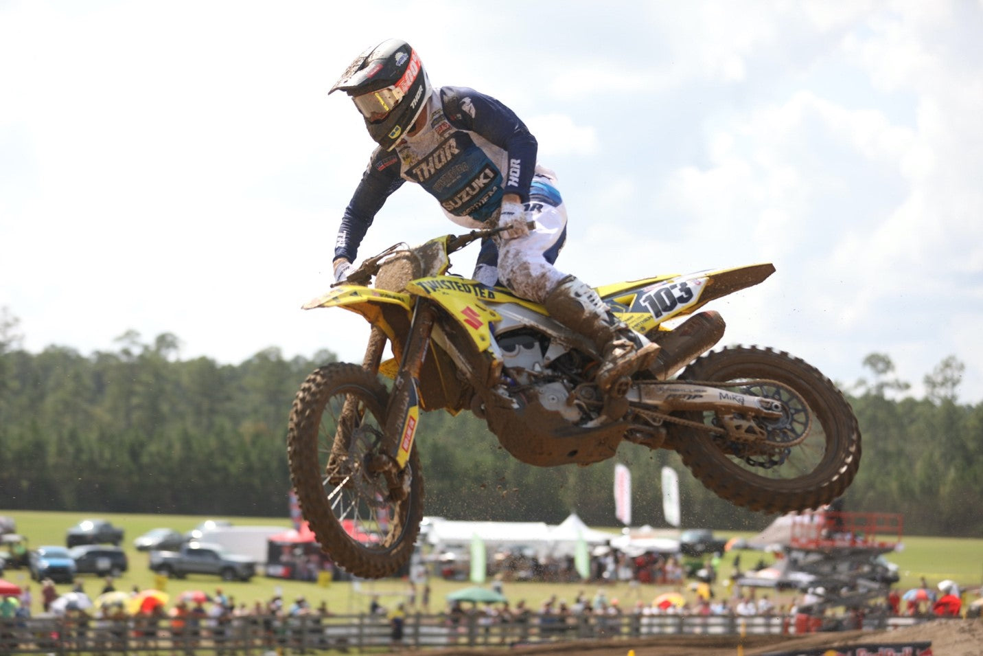Max Anstie (#103) finishes 4<sup>th</sup> overall in moto #2.