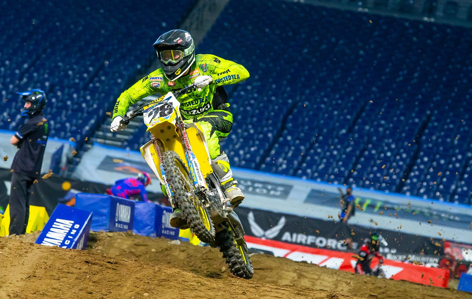 Brandon Hartranft (#28) continues to grow in his rookie 450 season.