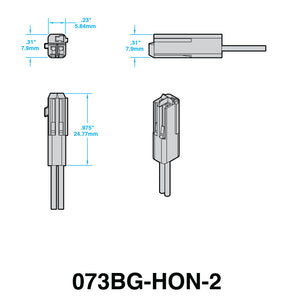 Plug-n-Play Turn Signal Adapters for HONDA (STYLE 3)