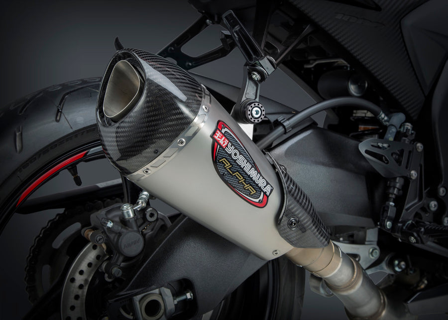 GSX-R1000 12-16 ALPHA T Stainless Slip-On Exhaust, w/ Stainless Muffler