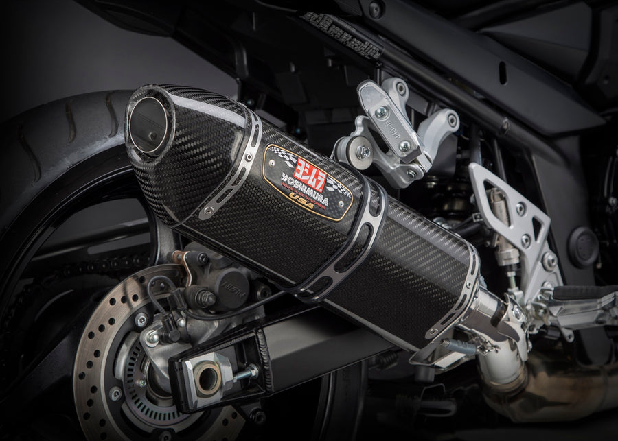 GSF/GSX1250FA 07-16 R-77 Stainless Slip-On Exhaust, w/ Carbon Fiber Muffler