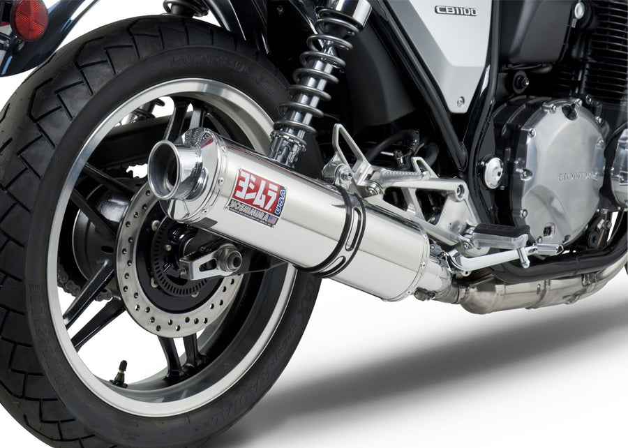 CB1100 13 RS-3 Stainless Slip-On Exhaust, w/ Stainless Muffler