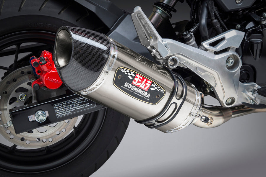 U.S. SPEC GROM 17-20 RACE R-77 STAINLESS FULL EXHAUST, W/ STAINLESS MUFFLER