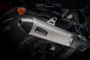 Africa Twin 16-19 RS-4 Stainless Slip-On Exhaust, w/ Stainless Muffler