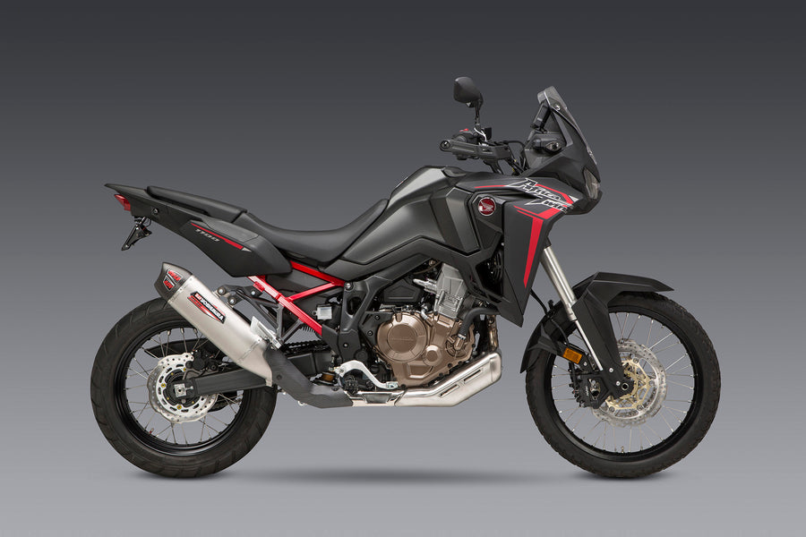 Africa Twin 2020 RS-12 Stainless Slip-On Exhaust, w/ Stainless Muffler