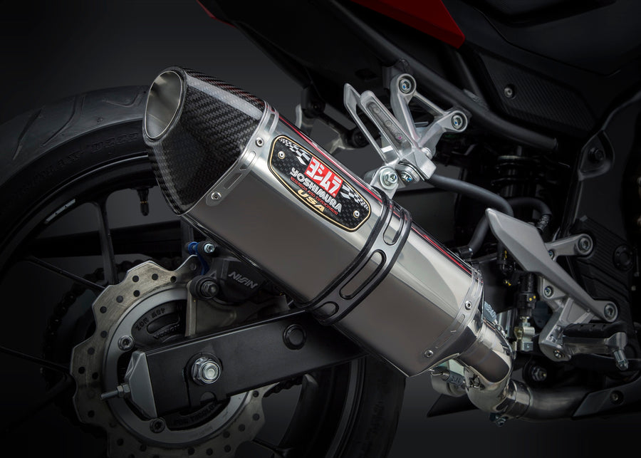 CBR500R 16-18/CB500F 16-18 R-77 Stainless Slip-On Exhaust, w/ Stainless Muffler