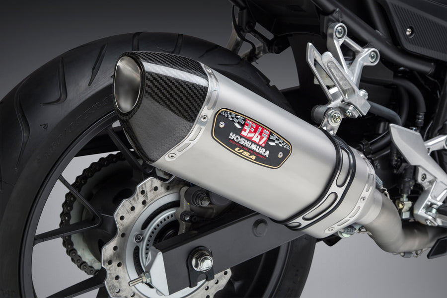CBR500R 16-18/X 17-18 Race R-77 Stainless Full Exhaust, w/ Stainless Muffler