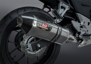 CB500X 13-16/CBR500R/CB500F 13-15 Race R-77 Stainless Full Exhaust, w/ Stainless Muffler