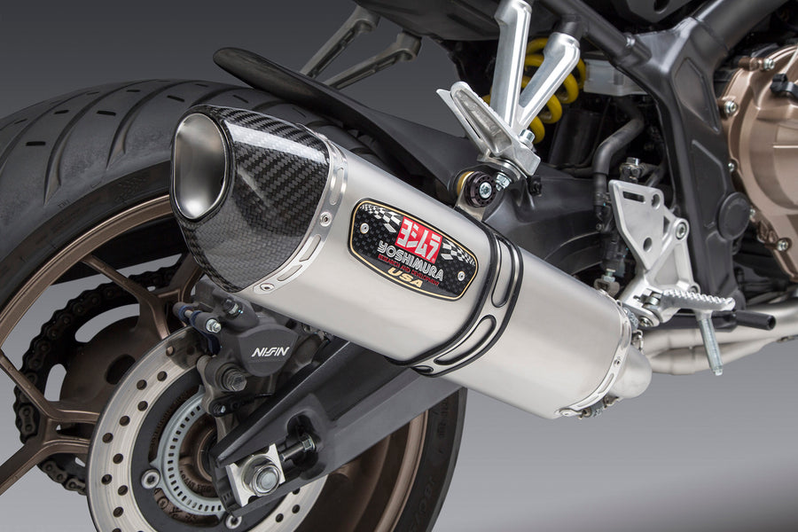 CBR650F 14-18/CB650F 18/CB650R 19-20 Race R-77 Stainless Full Exhaust, w/ Stainless Muffler