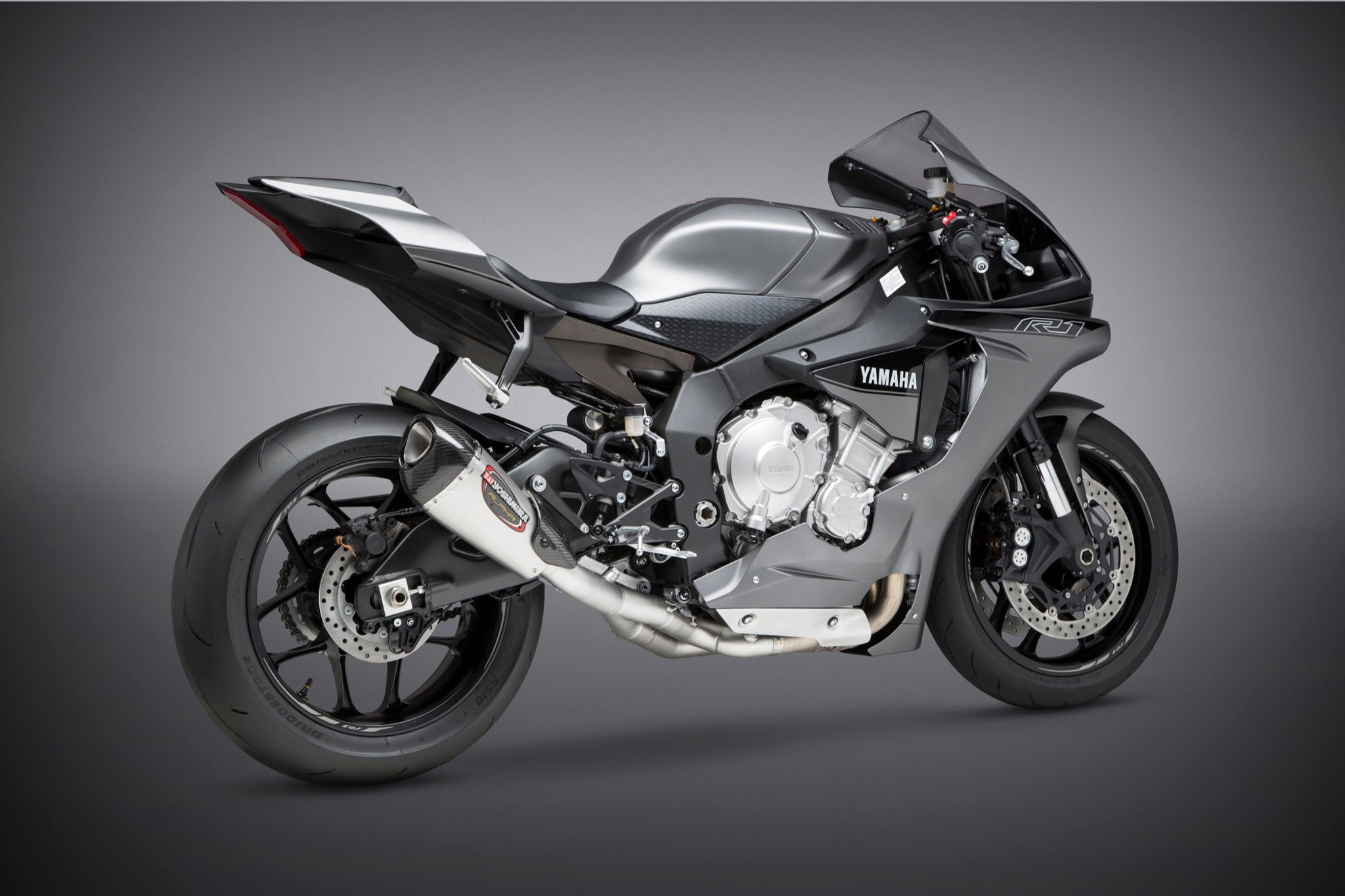 Yoshimura Yzf R1 M S 2015 19 Alpha T 3 4 Stainless Exhaust Stainless