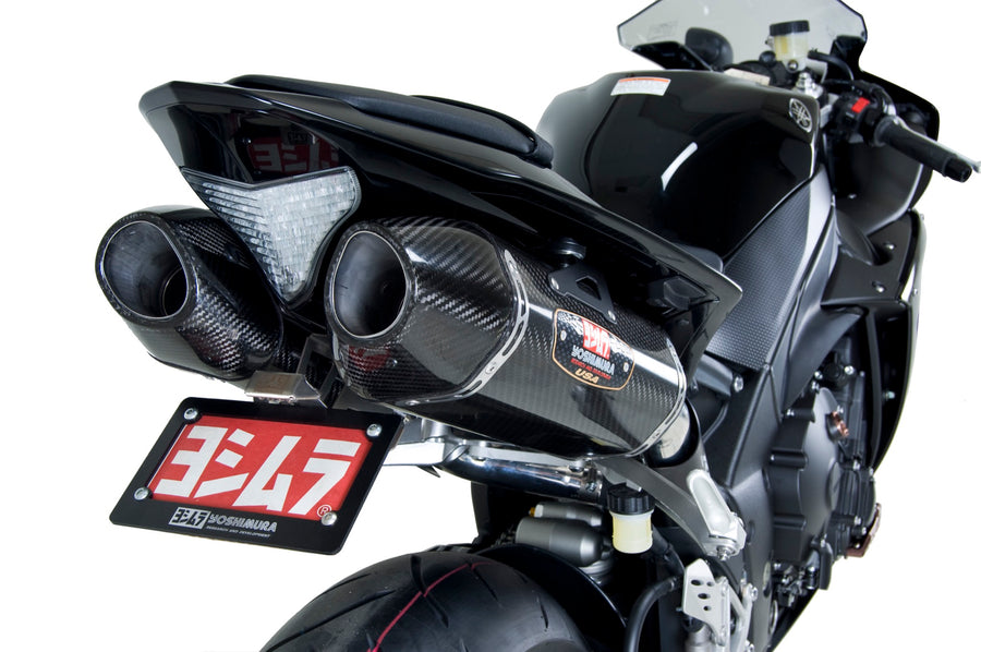 YZF-R1 09-14 R-77 Stainless Slip-On Exhaust, w/ Carbon Fiber Mufflers