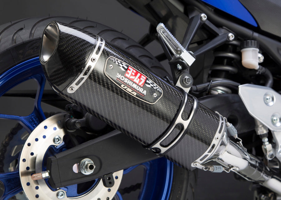 YZF-R3 15-21 Race R-77 Stainless Full Exhaust, w/ Carbon Fiber Muffler