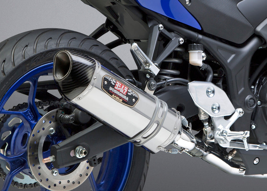 YZF-R3 15-21 Race R-77 Stainless Full Exhaust, w/ Stainless Muffler