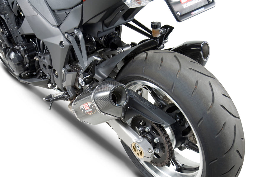 Z1000 10-16 R-77 Stainless Slip-On Exhaust, w/ Carbon Fiber Mufflers