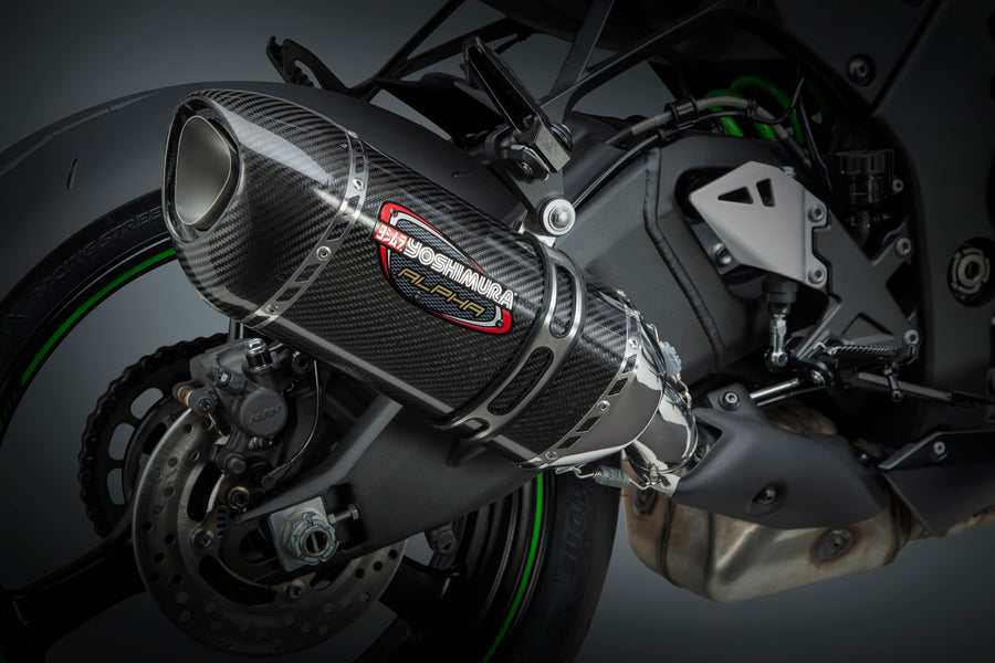 ZX-10R/RR 12-20 ALPHA Stainless Slip-On Exhaust, w/ Carbon Fiber Muffler