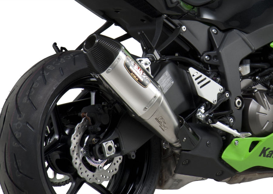 ZX-6R 13-18 RS-4 Stainless Slip-On Exhaust, w/ Stainless Muffler
