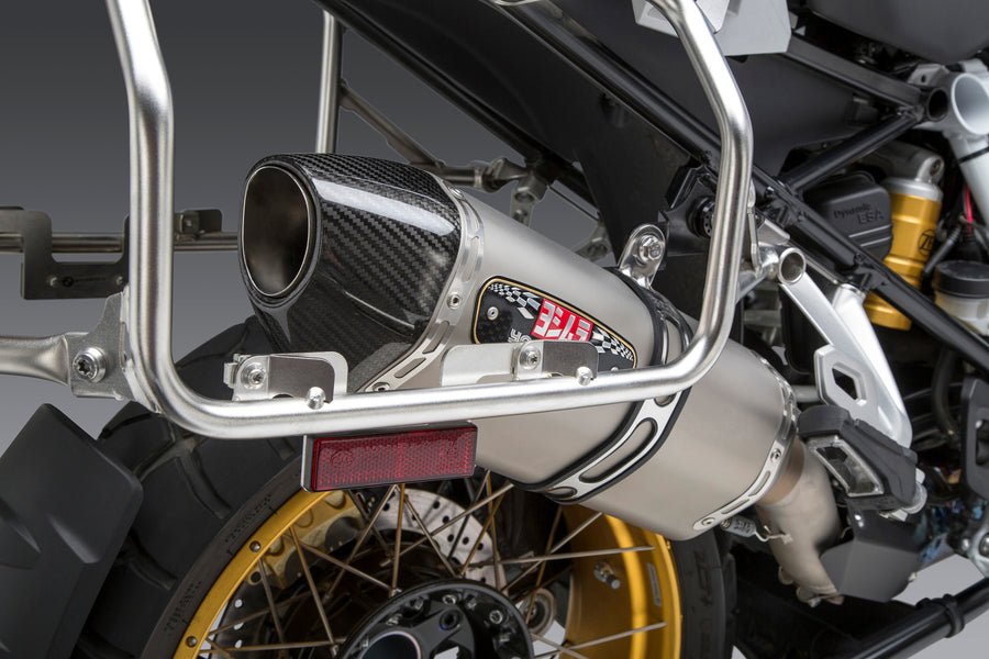 R1200GS/R1250GS 13-19 R-77 Stainless Slip-On Exhaust, w/ Stainless Muffler