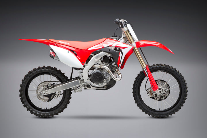 CRF450R/RX 17-20 RS-9T Stainless Full Exhaust, w/ Stainless Mufflers
