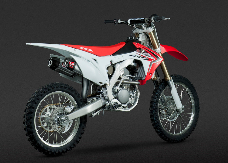 CRF250R 14-17 RS-9 Stainless Full Exhaust, w/ Aluminum Mufflers