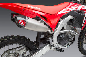 CRF250R 20-21 / RX RS-9T Stainless Slip-On Exhaust, w/ Stainless Mufflers