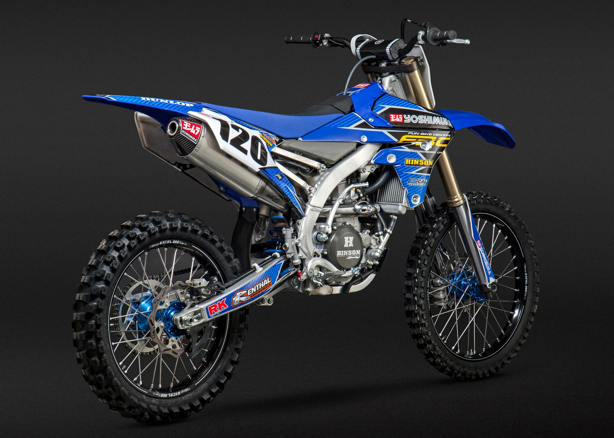 Yoshimura YZ450F/FX / WR450F RS-4 Slip-On Exhaust Aluminum