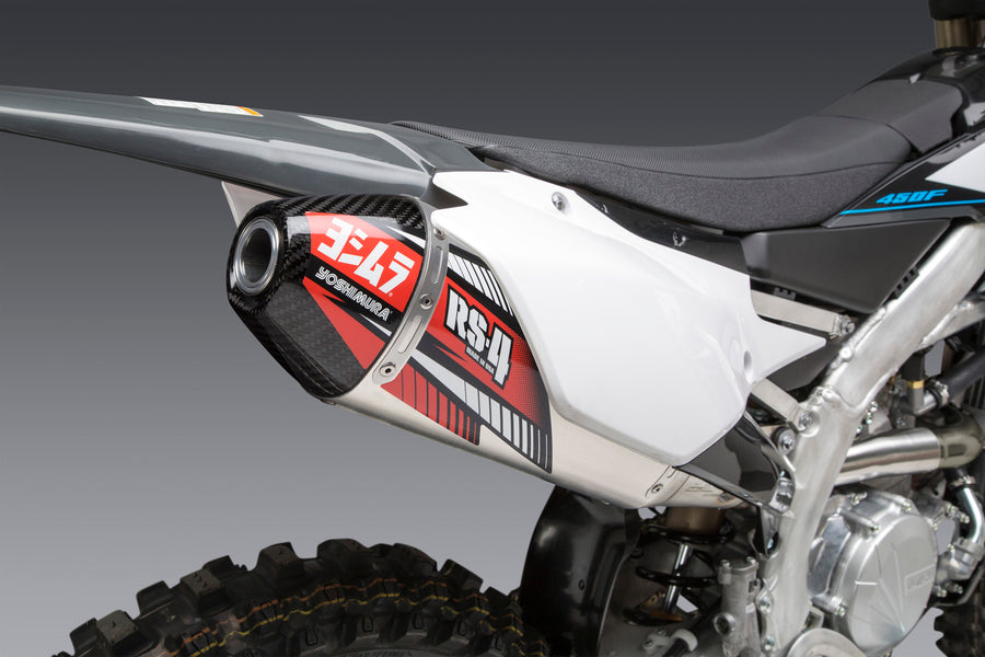 YZ450F/WR450F 19-21 RS-4 Stainless Slip-On Exhaust, w/ Aluminum Muffler