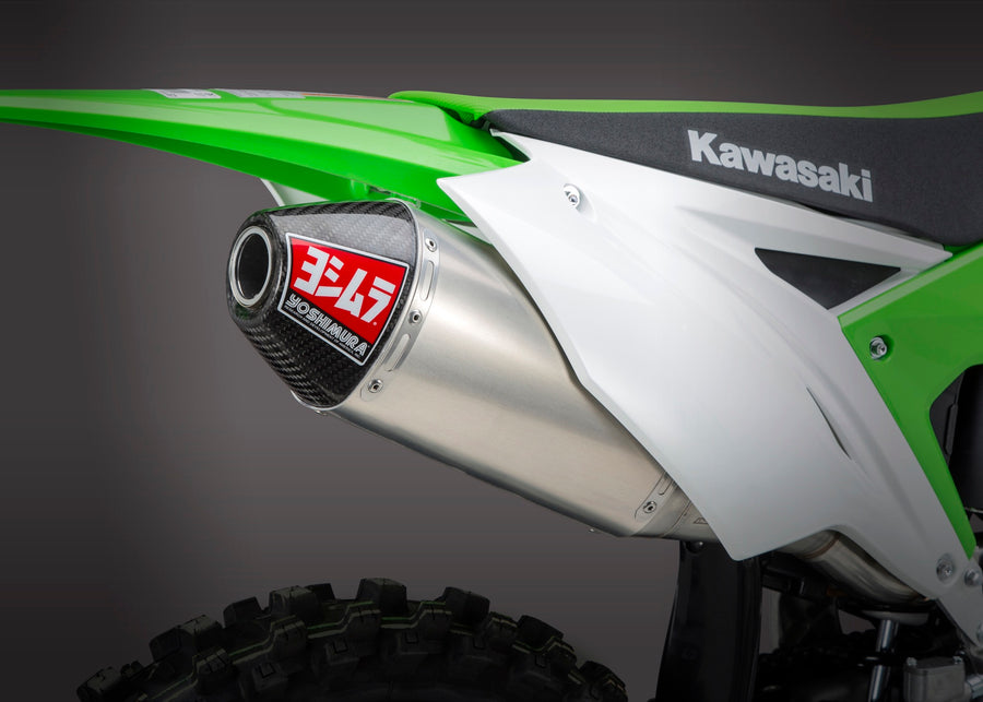 KX250F 17-20 RS-4 Stainless Full Exhaust, w/ Aluminum Muffler