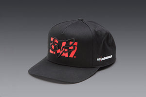 YOSHIMURA FOX SNAPBACK HAT BLACK