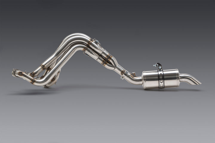 GSX-R1000 17-20 Oval Track Stainless Full Exhaust, w/ Stainless Muffler
