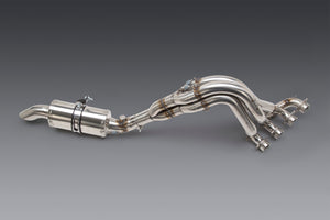 GSX-R1000 05-16 Oval Track Stainless Full Exhaust, w/ Stainless Muffler
