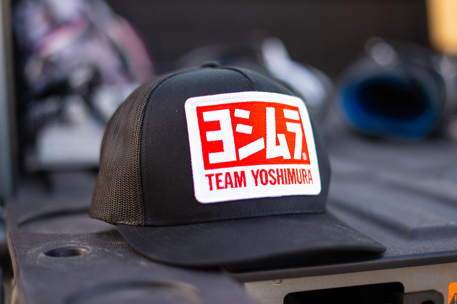 Team Snapback Trucker Hat Black