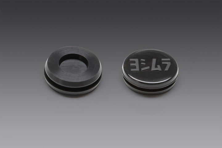 RUBBER GROMMET WITH LOGO TO COVER END-CAP INSERT HOLE FOR RS-9 MUFFLERS ONLY