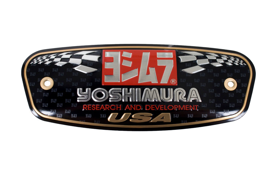 YOSHIMURA MUFFLER NAME BADGE R77