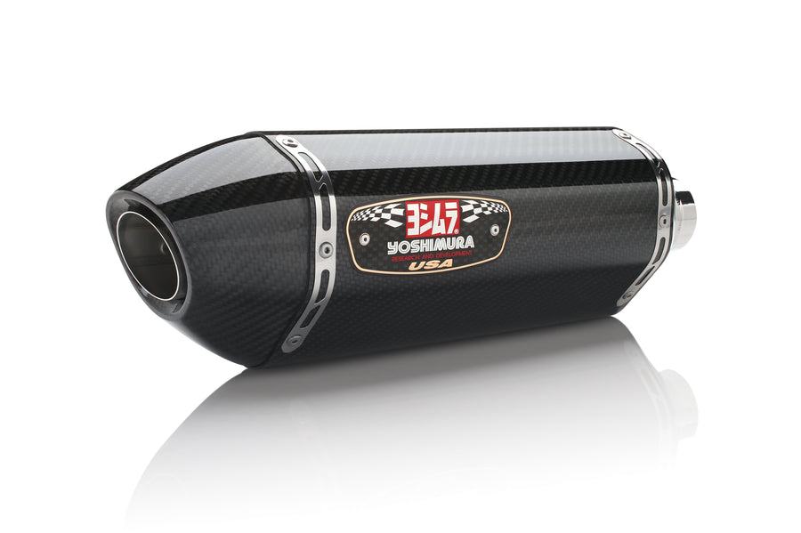 NINJA 300 13-17 R-77 Stainless Slip-On Exhaust, w/ Carbon Fiber Muffler