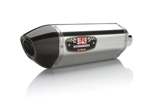 GSX-R1000 12-16 R-77 Stainless Slip-On Exhaust, w/ Stainless Muffler