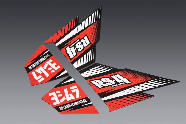 RS-4 MUFFLER DECAL SET (4 pcs)