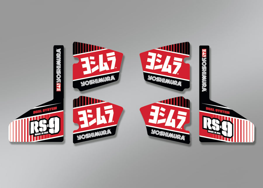 MUFFLER BADGE RS-9 Decal Set (6 pcs)
