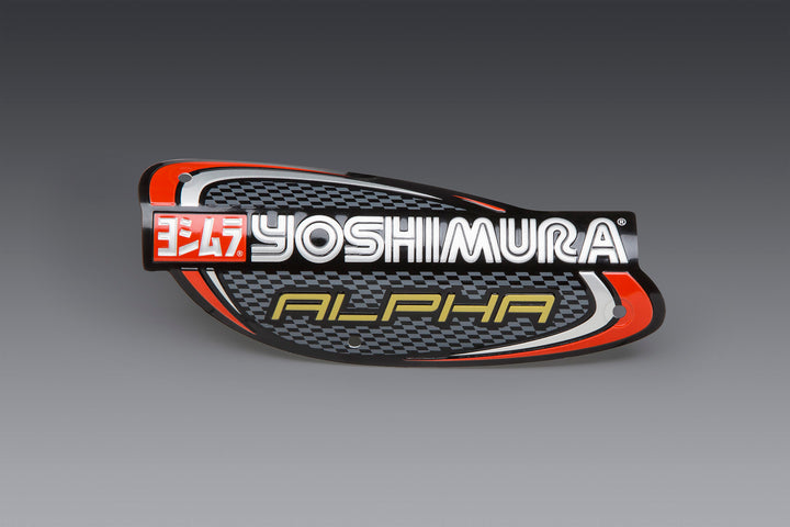 Yoshimura Muffler Name Badge Stainless Alpha and Alpha Taper