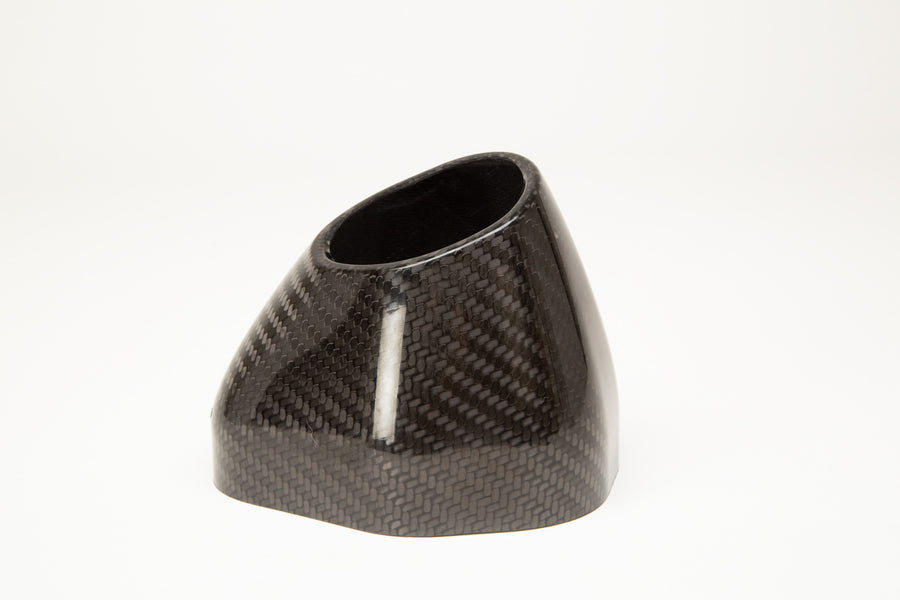 R77 Carbon Fiber End Cap Cover Flared Cut RIght Side